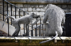 Animals within the Tower (littlestschnauzer) Tags: tower london historic site royal buidling grounds capital city england uk 2016 animals monkeys art sculpture tourist attraction primate exotic
