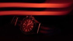 Mako light (quentin_uda) Tags: mako light shot night mechanical diver watch canon