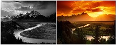 Holy crap (Jer*ry) Tags: classic photography blackandwhite color landscape scenic vista mountains river grandtetons