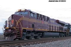 Pennsylvania (PRR) heritage NS # 8102 @ New Baden, IL (CQDX018) Tags: new southwest heritage ex lite illinois pennsylvania ns district cab norfolk engine move line southern division baden westbound spartan prr 964 sd70 2576 8102 es44ac cqdx018