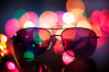 Sunglasses and Colorful Lights (Proleshi) Tags: christmas colors sunglasses 50mm lights nikon bokeh shades multicolor josephs jamal 50mm14afs proleshi notthebestinregardtocompositionbutthelightsarecool