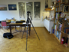 Harry's studio (Harry -[ The Travel ]- Marmot) Tags: show camera holland home me netherlands dutch amsterdam studio notes display interior room nederland harry gear marmot showing stadsarchief amsterdamnoord