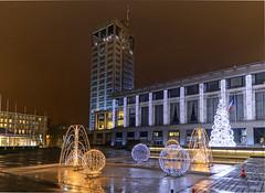 IMGP2185- Htel de Ville (City hall) du Havre, France (Rolye) Tags: christmas france normandie nol boules sapin hteldeville lehavre rolye