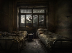 Bed bug riot (andre govia.) Tags: school abandoned window hospital dark bed beds decay ghost bugs urbanexploration horror derelict andregovia
