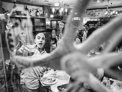 Through the window party (unoforever) Tags: street party people woman man cup window monochrome ventana photography calle mujer fiesta hand gente wine streetphotography mano streetphoto copa hombre vino fotografa castelln photogrpahy spmonochrome unoforever