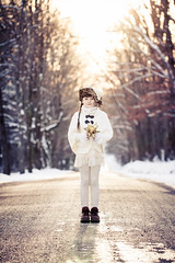 Golden light (Kilkennycat) Tags: road christmas trees winter boy portrait snow girl forest canon children star woods holidays child boots goldenhour goldenlight 500d kilkennycat t1i ryanconners 100mm28l