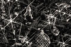 Light Spikes - Explore (Light Echoes) Tags: christmas blackandwhite bw blackwhite nikon christmastree christmaslights explore candycanes d90