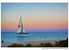 Beautiful Sunset at Dolphin Beach (siska maria eviline) Tags: sunset beach yacht westernaustralia sharkbay dolphinbeach