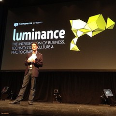 Allen Mrsbayashi of @photoshelter opening the... (Ed Lefkowicz) Tags: nyc newyork photography luminance photoshelter uploaded:by=flickstagram instagram:photo=27880806544965209011767298