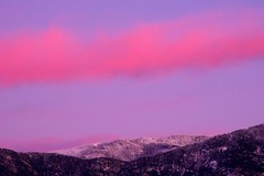 Pink boa over Mt. Lemmon (jimsc) Tags: pink autumn sunset arizona cloud white snow evening december desert sundown tucson peak eveningsky sonorandesert skyshow mtlemmon catalinamountains endofday pentaxkx skycolors pimacounty