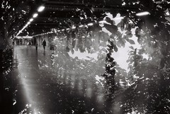 Lucid Dreams (4niki) Tags: bw white black subway 50mm nikon stockholm doubleexposure f14 delta christian f nikkor 3200 ilford patrik tunnelbana lv 4niki mode
