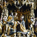 Michael Pacher, Sankt Wolfgang Altarpiece, detail fo the Coronation of the Virgin