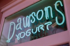 I got a Coca-Cola from Dawson's Yogurt. (mere.groom) Tags: red hot film ice beach sign square photography restaurant frozen photo seaside neon chili photographer place florida photos tissue yo cream peppers fl yogurt bliss dawson scar rhcp dawsons froyo