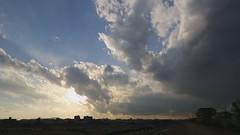 Year-end Sunset - Time Lapse (mrhayata) Tags: winter sunset sky cloud japan yearend geotagged tokyo blog timelapse riverside embankment setagaya futakotamagawa mrhayata geo:lat=35616548 geo:lon=139617555
