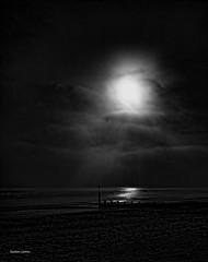 Falling light. (Seaton Carew.) Tags: blackwhite experimentation fallinglight winter2010