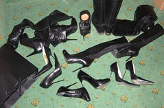 New Year sightseeing city trip (Rosina's Heels) Tags: high pumps boots heel stiletto