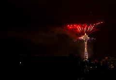 Needle New Year 5 of 5: The Red Rocket (RyanManuel) Tags: seattle new washington nikon downtown fireworks year pride celebration spaceneedle washingtonstate capitolhill seattlepride 2013