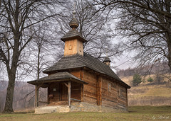 wooden church (klembo2) Tags: travel sky church architecture landscape lights wooden oldarchitecture churchlights