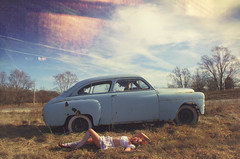 (yyellowbird) Tags: blue selfportrait girl car sleep roadtrip lolita cari