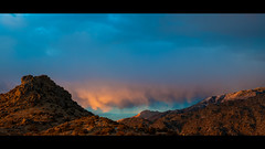 Sandia Foothills (iFlook) Tags: mountains newmexico landscape intense desert pano vivid albuquerque panoramic amazingcolors stiched beautifulsunset