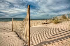 Morning Shadows (grandalloliver) Tags: november beach nature canon fence landscape island florida wideangle hdr perdido topaz perdidokey photomatix canonefs1755mmf28usm rebelxsi topazadjust grandalloliver grandalloliverphoto