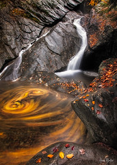 ([Adam Baker]) Tags: autumn leaves waterfall vermont hiking canon5d swirls 1740l jamaicastatepark adambaker