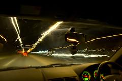 Mondeo at Lightspeed (Red Storm Rising) Tags: road blue black blur car effects lights scotland highlands nikon exposure caithness lighttrail lightspeed thurso d3100