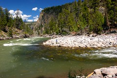 Confluence of the Hellroaring Creek and the Yellowstone River, Hellroaring Creek Trail, Yellowstone National Park, WY (Dr. Doc) Tags: hiking yellowstonenationalpark wyoming sandybeach hellroaringcreek hellroaringcreektrail theyellowstoneriver tamronspaf1024mmlens