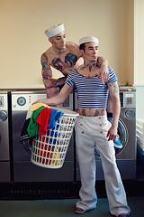 Sailor's story (www.kkotkiewicz.co.uk) Tags: portrait man love boys hat fashion nikon edinburgh photographer moda stripe style guys story laundry sailor he stylist