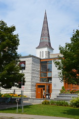 Steeple behind the library (afagen) Tags: church vermont library steeple montpelier kellogghubbardlibrary