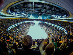 fish-eye distortion in TD Garden ~ Boston Bruins (jcnikon) Tags: nhl bostonbruins bobbyorr nationalhockeyleague winnipegjets tdgarden goprohero bruinsbanners stanleycup2011banners nhllockoutisover