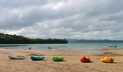 Gloomy day in Dakak (nalini13) Tags: sea beach sand kayak philippines mindanao zamboanga dakak