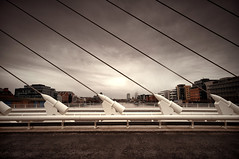 Calatrava (much better when L is pressed) (Rus) Tags: city bridge dublin photoshop handheld santiagocalatrava topaz riverliffey samuelbeckett sigma1020 ndgradfilters nikond5000