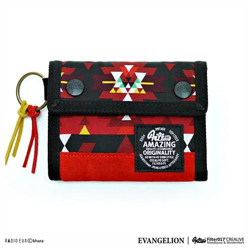 FILTER017 × 新世紀福音戰士 - EVA民族風三折短夾