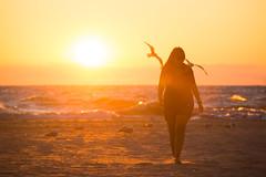 A Baywatch Moment (Paladin27) Tags: blue sunset sun orange yellow birds seagull seagulls sea gull silhouette beach south haven southhaven michigan puremichigan lake lakemichigan wave waves sand
