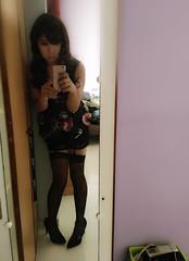Just wanna be a lil' kawaii today!  (xiaostar01) Tags: otokonoko garters stockings boytogirl mtf crossdresser