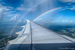 Rainbow over Orlando (DonMiller_ToGo) Tags: sky weather clouds outdoors inflight florida rainbows hdr 3xp hdrphotography d5500