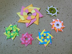 Flying star, back (Dasssa) Tags: origami modular dasssa dasaseverova star paper 8 hole