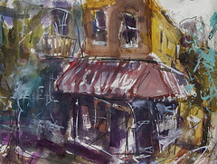 Cappolas Deli In Carytown (ARTbyROBERT) Tags: art artwork painting paintings cityscape carytown storefronts abstract watercolor
