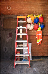 Hats Off! (Mabacam) Tags: 2016 london camden doorway ladder hardhats hivizjackets hiviz happywallwednesday