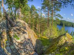 Sulavuori (MikeAncient) Tags: hdr handheldhdr tonemap tonemapped 5exp kuhmoinen suomi finland kalansilm fisheye isojrvi jrvi lake maisema maisemakuva maisemakuvaus landscape landscapephotography kallio kivi cliff rock geotagged