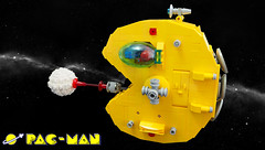 PAC-MAN Main Photo (David Roberts 01341) Tags: lego spaceship spacecraft scifi classicspace minifigure minifig asteroidmining snot pacman