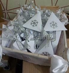 Cesto scatoline confetti (Armonie di filo) Tags: scatola scatolina portaconfetti bomboniera matrimonio glitter argento ghiaccio cristallo mano segnaposto natalizio