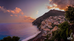 Fiery Positano Sunrise (anoopbrar) Tags: positano amalficoast amalfi italy tourism landscape city seascape twilight sunset sunrise bluehour surreal hidden clouds fiery art landcapephotography nature outdoor towns vacation seascapes travel travelphotography water artistic cities night long exposure longexposure reflections foreground dusk citylights architecture buildings urban