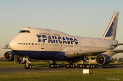 Transaero 747-400 EI-XLC (birrlad) Tags: dublin dub international airport ireland aircraft aviation airplane airplanes airline airliner airlines airways arrival arriving finals landing landed runway sunlight sunrise morning weather transaero storage ex boeing b747 b744 747 747400 747446 eixlc painting eirtech hangar rossiya colour scheme titles decals russia russian