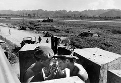 Robert Capa  INDOCHINA 1954 (20) (manhhai) Tags: barechest chausse cigarette colonie colony deuxpersonnes extrieur exterior fortification fume fumeur gardien guard guerredindochine homme2545ans man25to45years montagne mountain namdinh roadway smoke smoker soldat soldierarmy torsenu twopeople typehumainblanc warofindochina whitepeople
