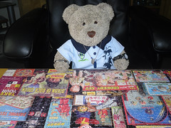Histry lessen (pefkosmad) Tags: jigsaw puzzle leisure pastime hobby memory memories nostalgia childhood 1000pieces 1950s growingup toys gibsons complete tedricstudmuffin ted teddy bear stuffed soft toy cuddly cute plush fluffy