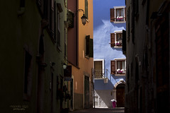 ... when the sun shines (mariola aga) Tags: italy city town buildings houses colorful walls dark shadow light sunlight street alley thegalaxy saariysqualitypictures