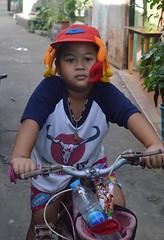 boy with lobster cap (the foreign photographer - ) Tags: sep42016nikon boy tricycle lobster cap khlong bang bua portraits bangkhen bangkok thailand nikon d3200