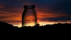 Harvest Sunset (Michelle O'Connell Photography) Tags: sunset nature explore scenery landscape glasgow scotland farmland cleddans drumchapel drumchapellifesofar harvest autumn autumnal summer dusk sunsetting michelleoconnellphotography
